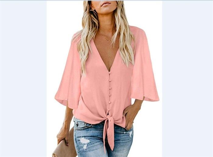 Summer Shirt Loose Tunic Casual Blouse