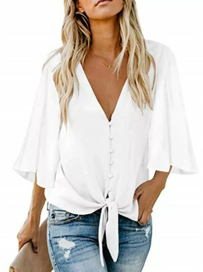Summer Shirt Loose Tunic Casual Blouse
