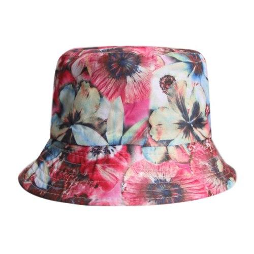 Summer Fisherman Hat Casual Floral Print Bucket Hats