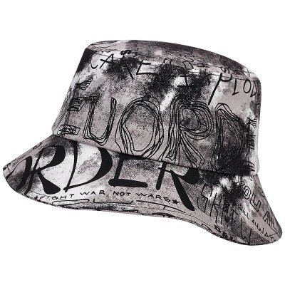 Fashion personality Tie-dye Graffiti Bucket Hat Summer Casual Sun Hat Beach Fisherman Hats