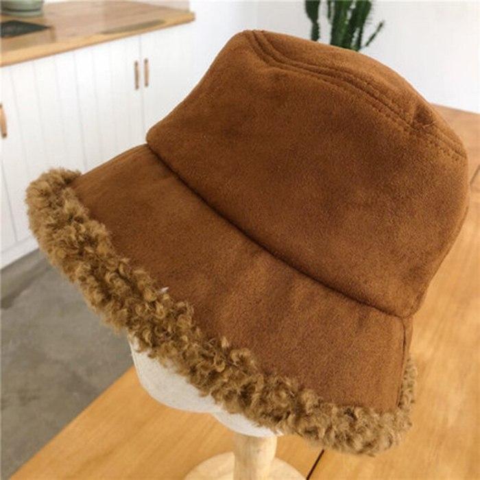 Women Hat Winter Artificial Fur Warm Plush Female Cap