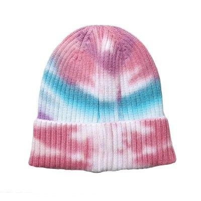 Fashion Tie-dye Winter Knitted Beanie Hat
