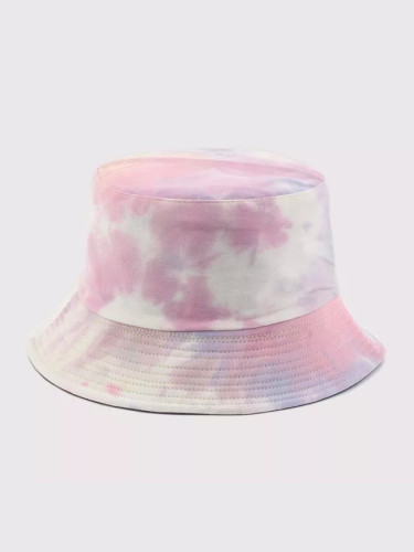 Cotton Autumn Winter Tie Dye Bucket Hat Fishing Caps