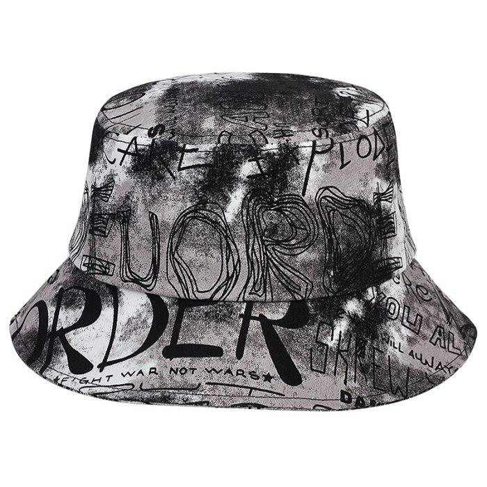 Fashion personality Tie-dye Graffiti Bucket Hat Summer Casual Sun Hat Beach Fisherman Hats