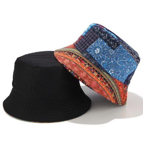 Fashion Summer Flower Printed Fisherman Caps Bucket Hats