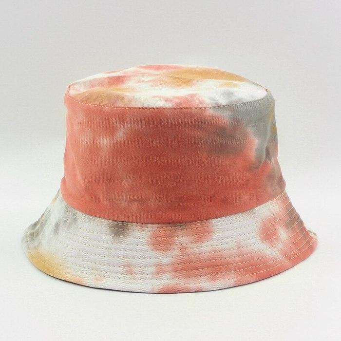 Cotton Autumn Winter Tie Dye Bucket Hat Fishing Caps