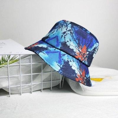 Fashion Tie-Dye Bucket Hat Gradient Colorful  Fisherman Cap