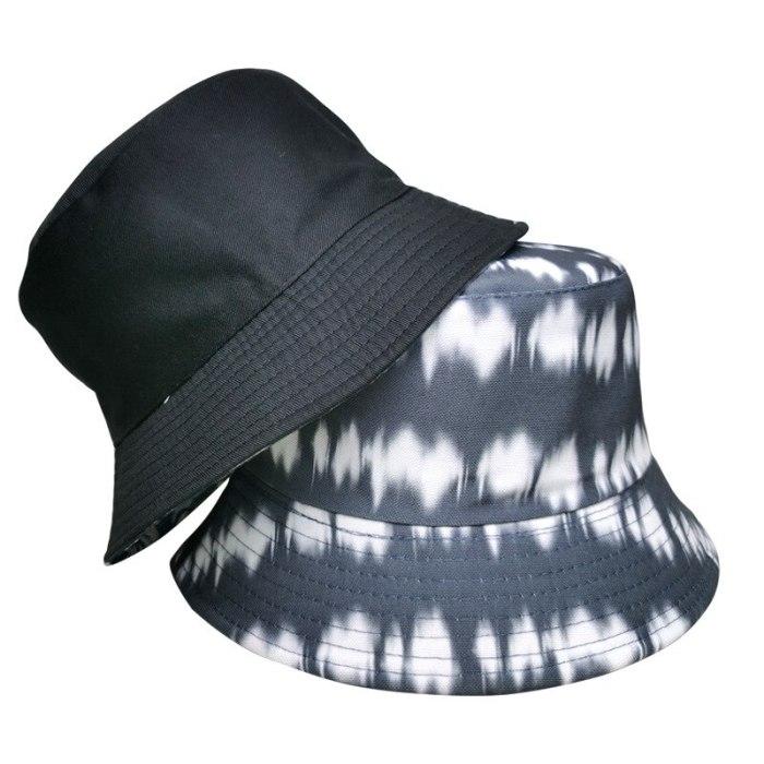 Double-sided Bucket Hat Cotton Flat Sun Hat Tie Dye Fisherman Hat