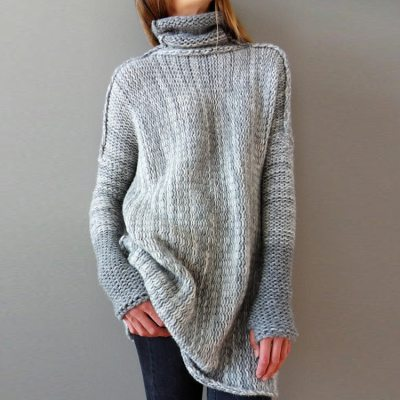 Turtlenecks Winter Clothes Pullovers Knitted Sweater