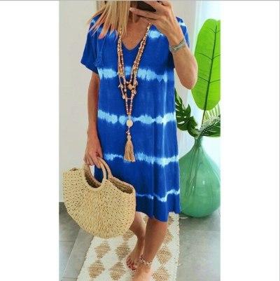 Women Summer Short Sleeve Plus Size Casual Dress Dresses