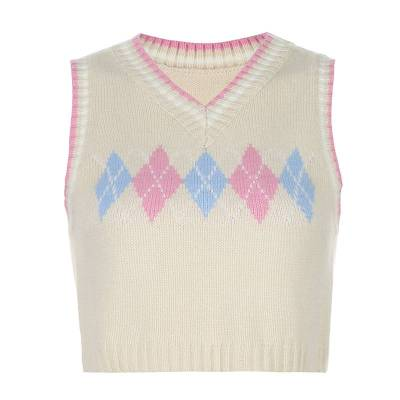 Sweater Knit Vest Autumn Sleeveless Sweater Vest V Neck Tank Top