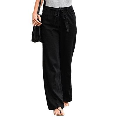 Women Linen Cotton Solid  Green  Summer Female Casual Pants