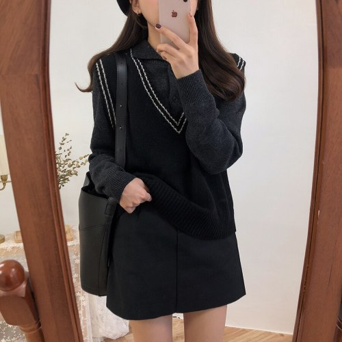 Autumn Winter Women Sweater vest Knitted Jumper Warm Female