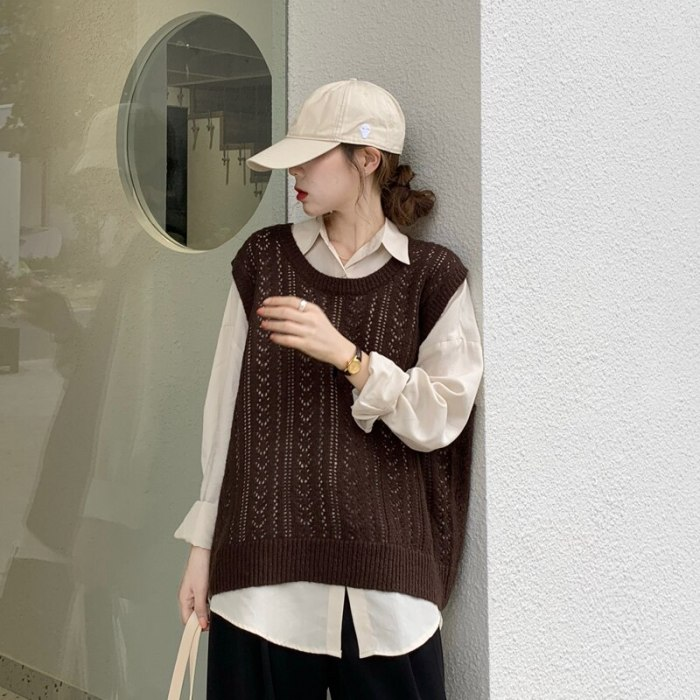 2 Piece Sets Womens Elegnat Knitted Sweaters Long Sleeve Outerwear