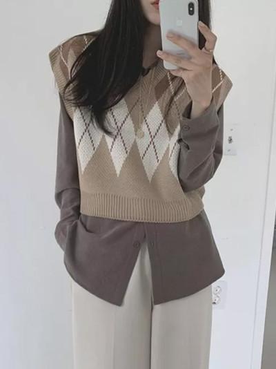 Women sweaters joker wool knitted vest