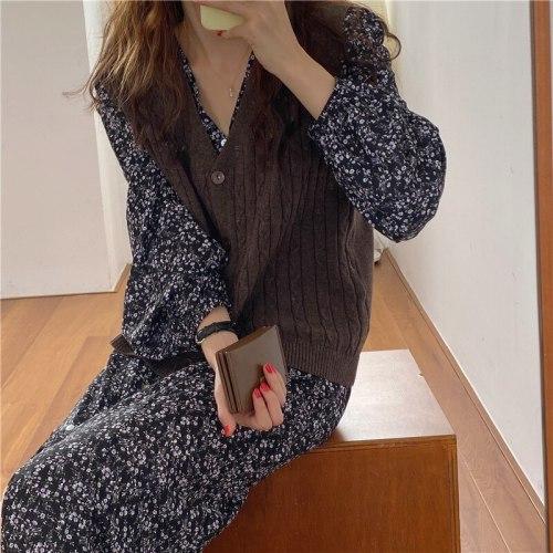 Spring Autumn Women Vest Sweaters Joker Knitted Vest Wool