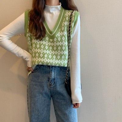 Women's Autumn Sleeveless V-neck Knitted Vest
