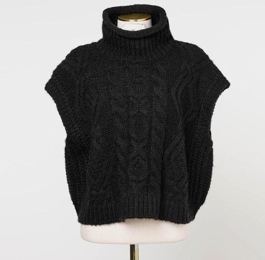 loose sleeveless sweater spring autumn knitting vest