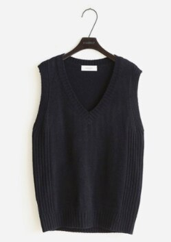 knitted vest v neck joker womens winter outerwear