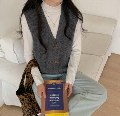 Spring Autumn Women Sweaters Knitting Vest joker