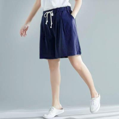 Summer New Fashion Women Elastic Waist Loose Casual Shorts