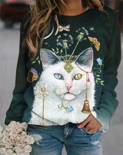 3D Animal Cute Pattern T Shirts Long-Sleeved Top