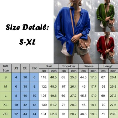 Women Sexy Deep V-neck Satin Blouse Tops Loose Long Sleeve Female Spring Shirt