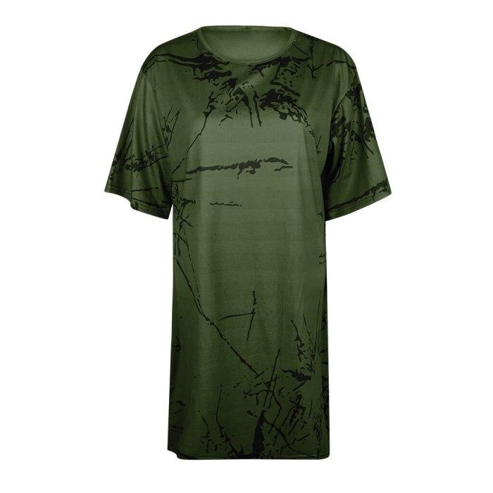Women's Short Sleeve o-Neck Printed Top Loose T-Shirt