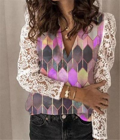 Spring Autumn Women Button Boho Ruffles Long Full Sleeve Casual Shirts