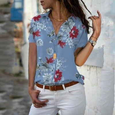 Casual Autumn Women Shirt Long Sleeve Print Chiffon Shirt