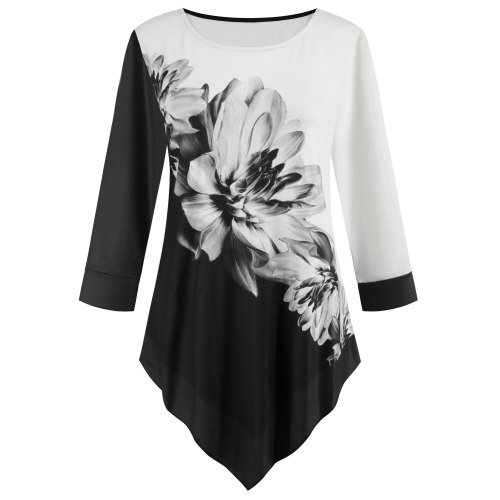 Casual Loose Shirt Women Print Blouse