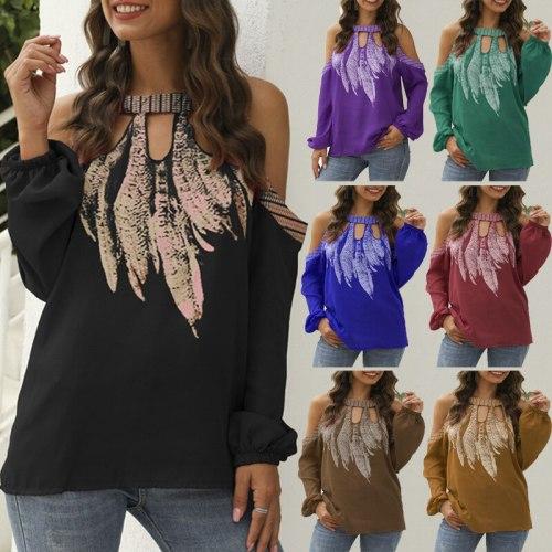 Women Chiffon Shirt Long Sleeve Shirts Casual Loose Tops