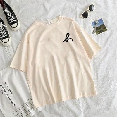 Ladies T-Shirts Spring minimalism Summer New Short-Sleeved T-Shirt