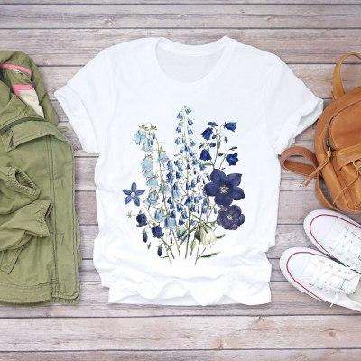 Lady Fashion Short Sleeve Summer Shirt T-shirts Top