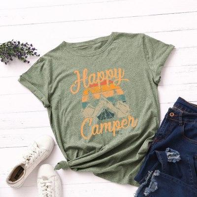 Women Funny Print Cotton Tshirt Summer Clothes