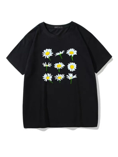 Summer new punk letter casual Vintage tops loose short sleeve T-shirt