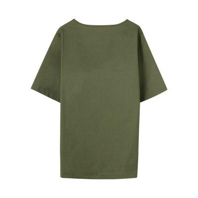 Women Ladies Plus Size Short Sleeve Print Loose Tops