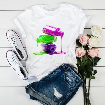 Women Fashion Tops Graphic Female T-Shirt