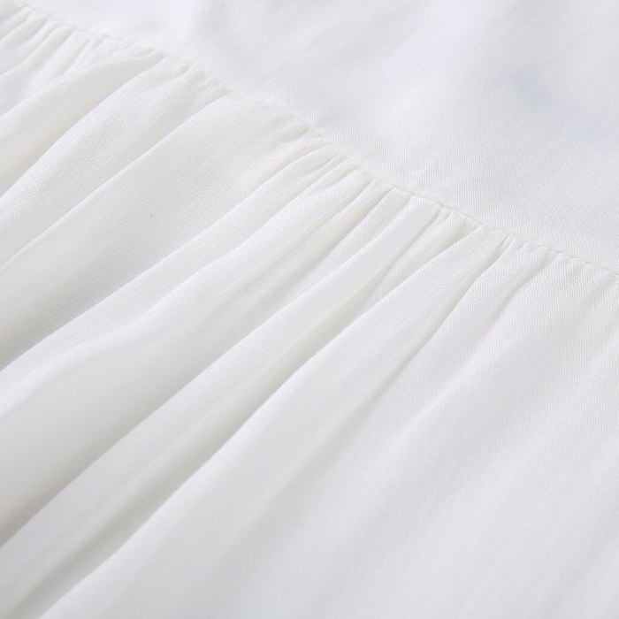 Fashion White Shirt Dress Women Summer Dress