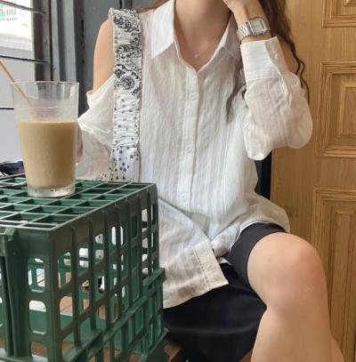 Embroidery Lace Spring Femme Shirt Casual white Linen Cotton Tops