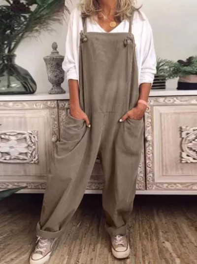 Womens Overalls Casual Loose Dungarees Romper Baggy Jumpsuit