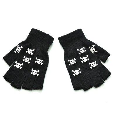 Halloween Style Gloves Horror Skull Claw Half Gloves Winter Hand Warmer