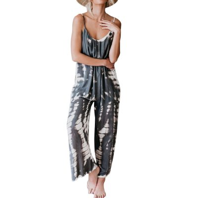 New Tie-dye Jumpsuits Women Casual Loose Overalls