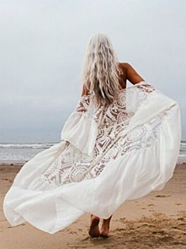 White bikini cover ups lace dresses