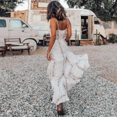 Women vintage polyester Snake print summer dress beach