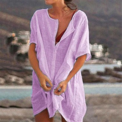 Women's Shirts New design Summer Casual large size female dress