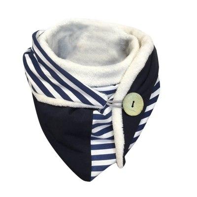 Women Casual Printing Scarf Fashion Retro Multi-purpose Shawl Button Scarf Winter