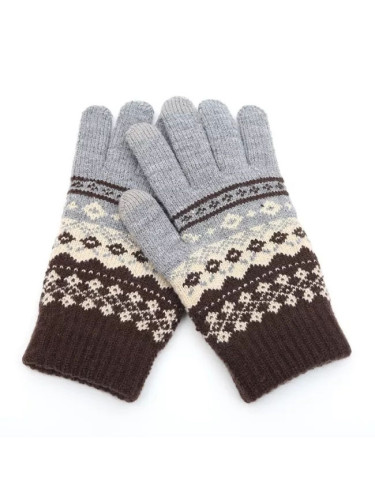 Winter Men/Women Warm Jacquard Stretch Knit Gloves Wool Full Finger Gloves