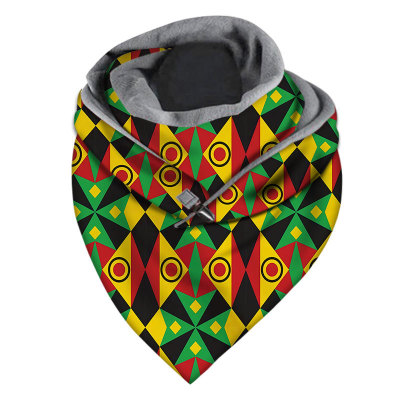 Polar fleece thick triangle scarf winter warm and windproof face mask scarf