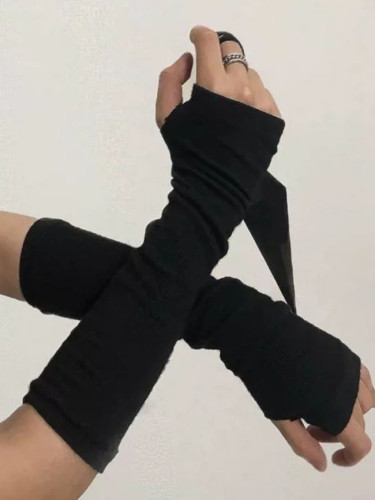 Ice Fabric Arm Sleeves Warmers Summer Sports Running Cycling Driving Gloves